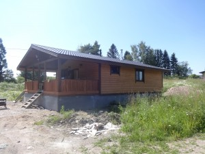 Каркасный зимний дом по финской технологии. Карелия, Лахденпохский район, база отдыха