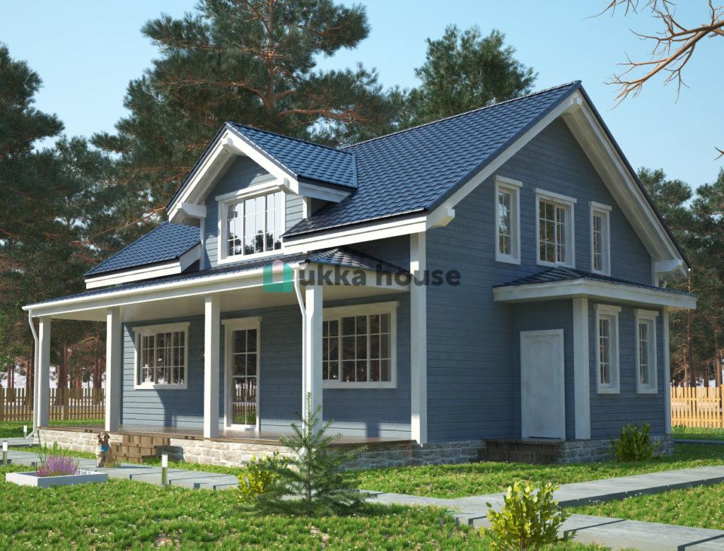 Финский каркасный дом - проект Хонка