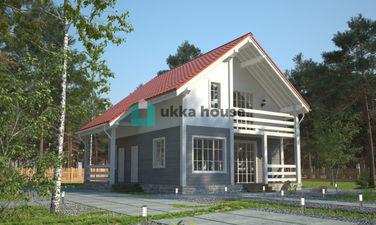 Терраса в загородном доме (под балконом), проект