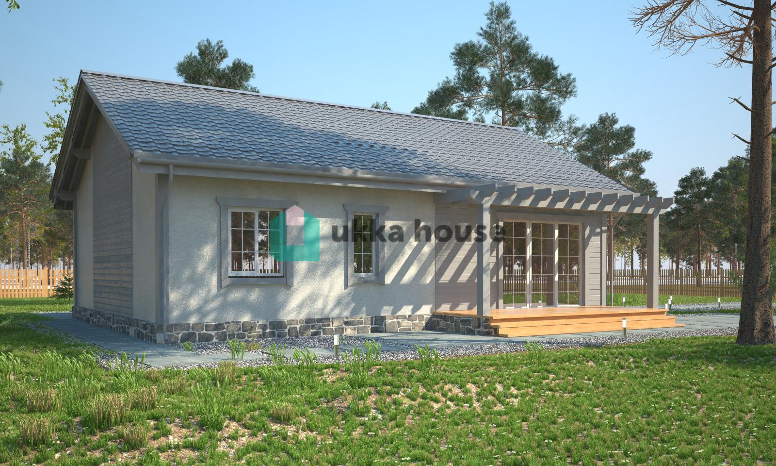 Проект «каркасно-щитовой дом с террасой»
