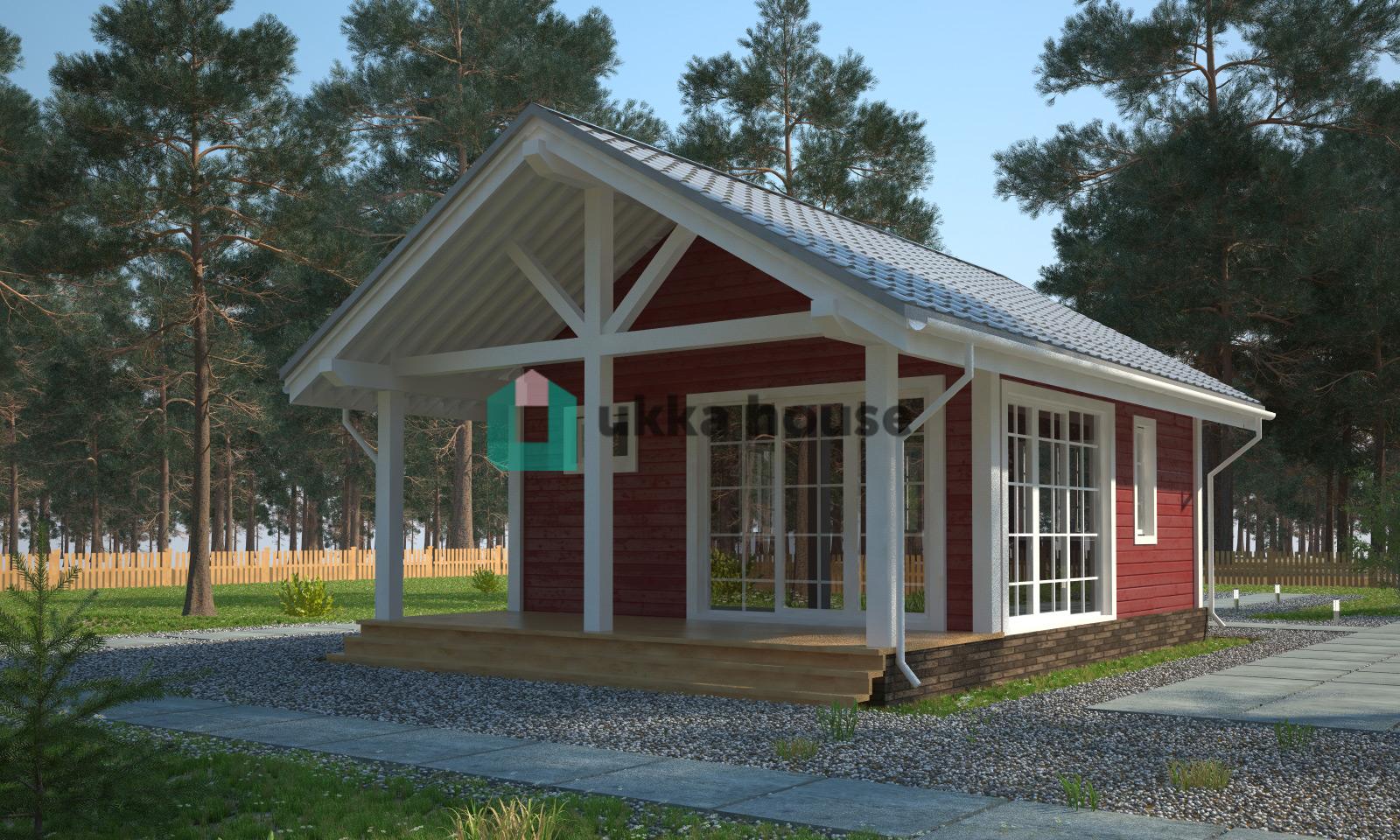 Проект «Панорамные окна в загородном доме Югра»