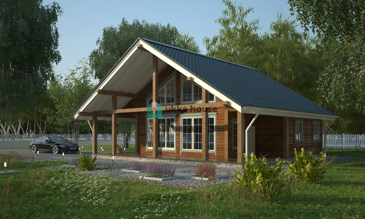 Проект «Каркасный дом в финском стиле Иматра»