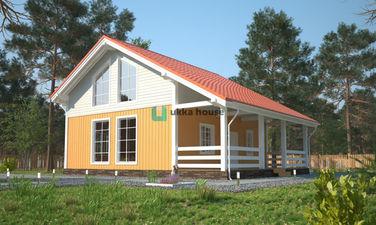 двухэтажный каркасный дом с террасой