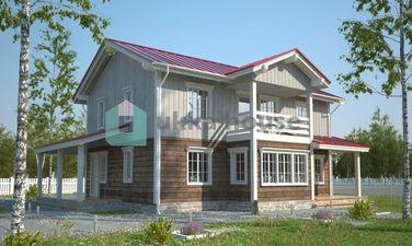 Талберг - планировка каркасного дома для большой семьи