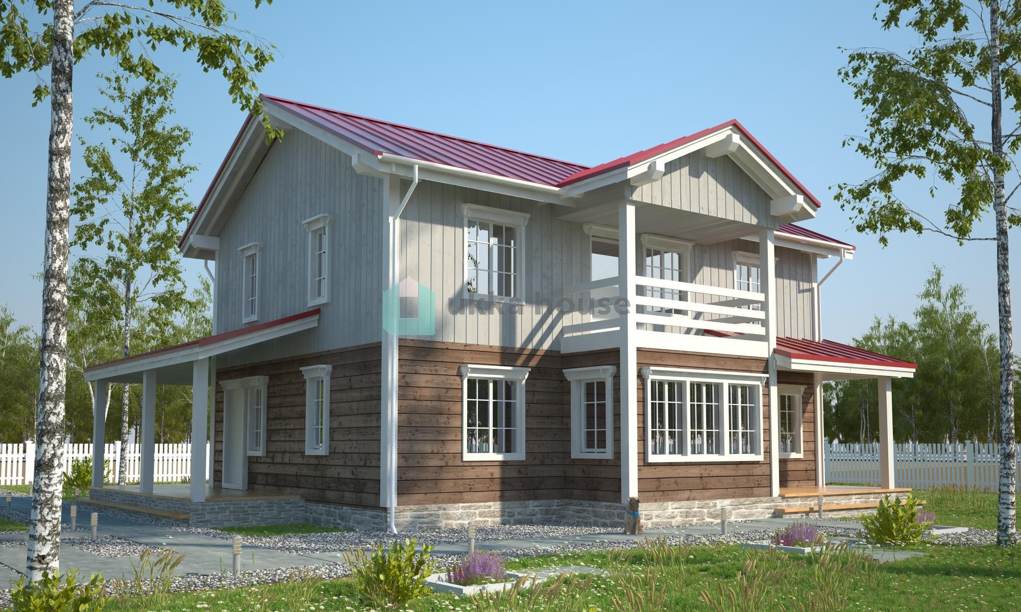 Проект «Талберг - планировка каркасного дома для большой семьи»