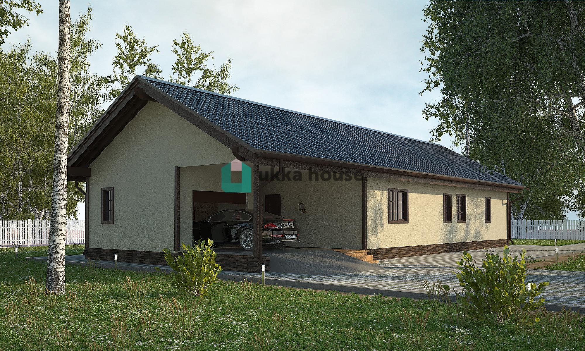 Проект «дом с гаражом и террасой»