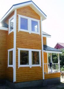 Двухэтажный зимний каркасный дом в Ломоносовском районе Санкт-Петербурга, пос. Новая Ропша