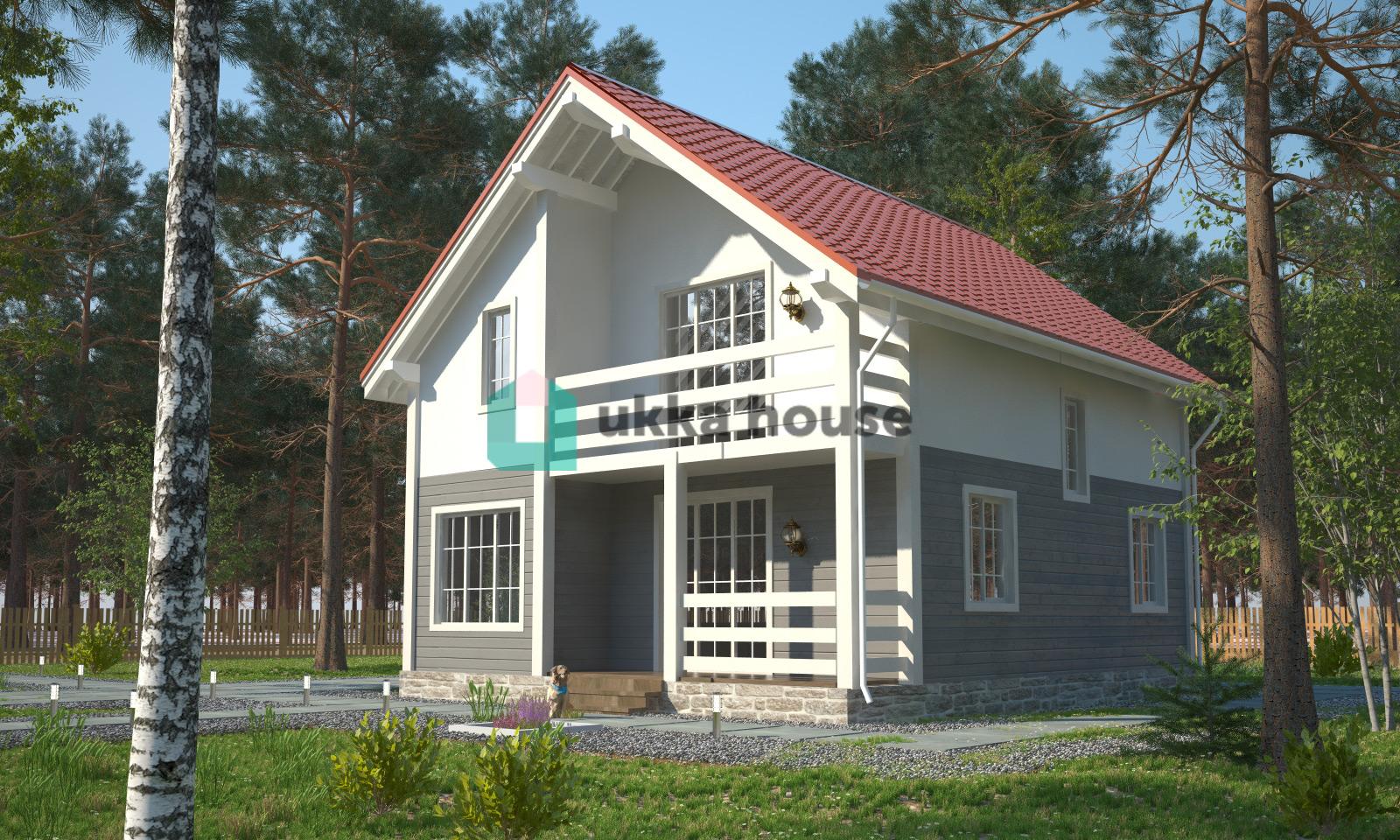 Проект «Смирновъ - двухэтажный каркасно-щитовой дом с террасой»