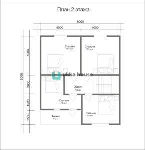 "Каркасный дом ""Легион"" - план 2 этажа"