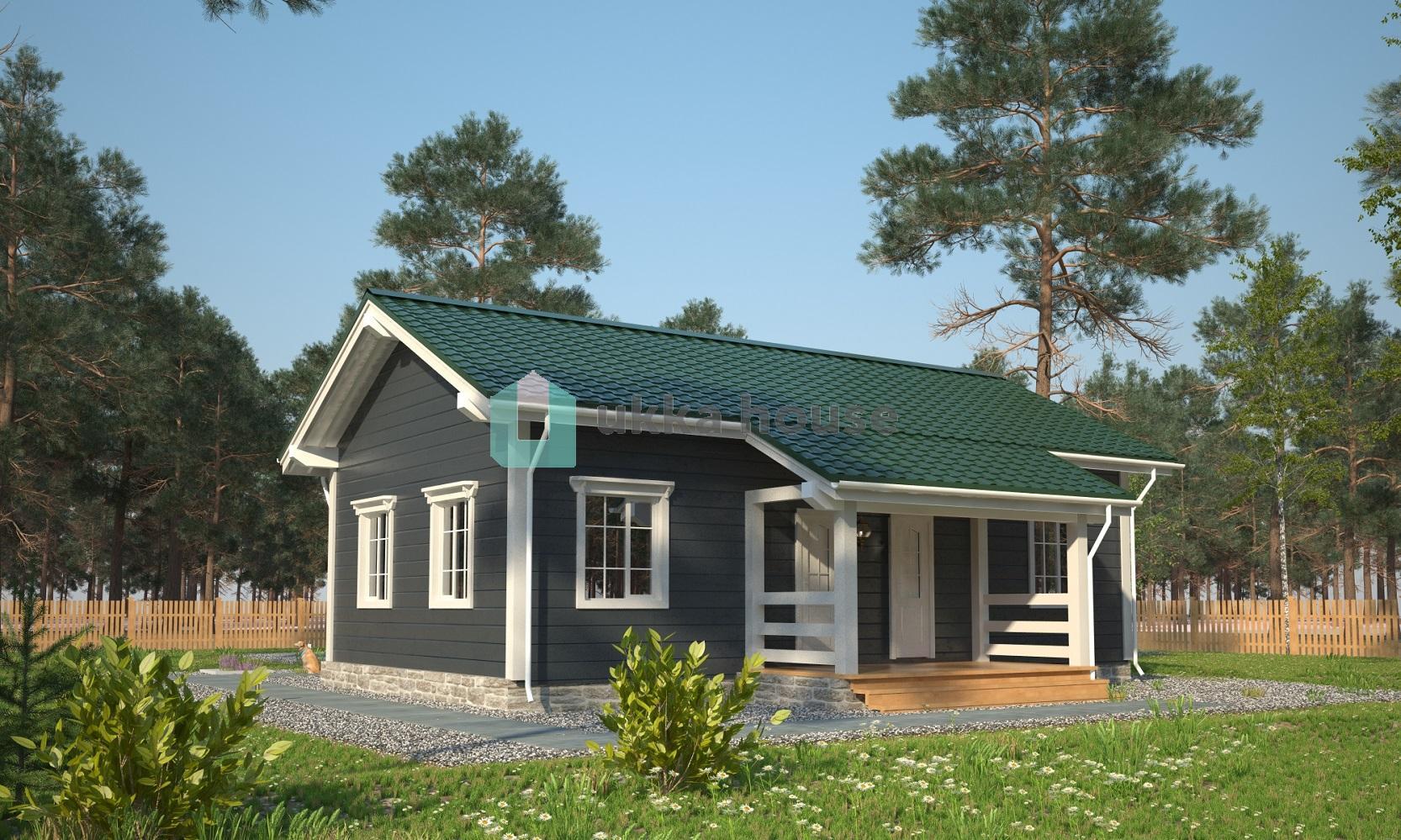 Проект «Одноэтажный каркасный дом Калипсо»