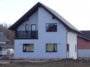 Каркасные деревянные дома у Ладожского озера, Всеволожский район Ленинградской области