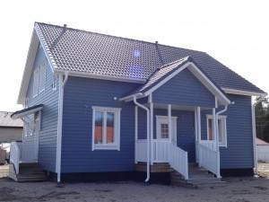 Каркасный дом с цементно-песчаной кровлей, пос. Дунай, Всеволожский р-н Ленинградской обл.