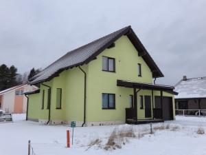 Зимний двухэтажный каркасный дом в Выборгском районе Ленинградской области