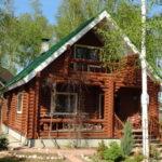 """Бревенчатый дом в садоводстве """"Фауна"""""""