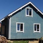 Каркасный дом с двустворчатыми окнами