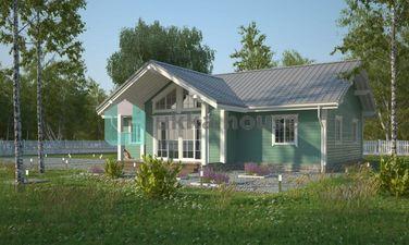 Строительство каркасных домов Спб, небольшой коттедж в скандинавском стиле - Конти