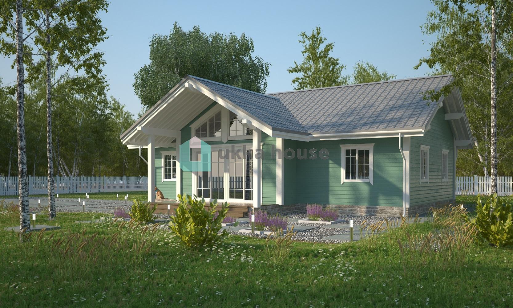 Проект «Строительство каркасных домов Спб, небольшой коттедж в скандинавском стиле - Конти»