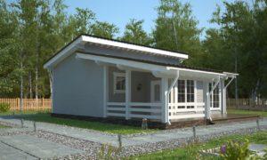 Дом с односкатной крышей - Кристалл