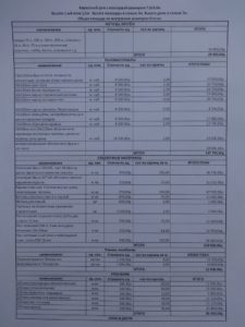 Образец сметы на недорогой каркасный дом в СПб, лист 1