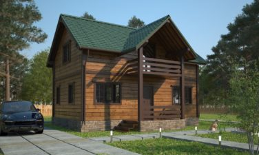 Строительство домов СПб проект каркасного дома Азимут