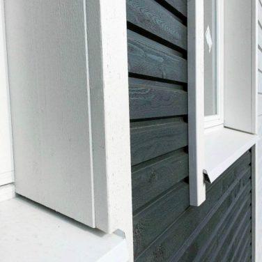 Фасад каркасного дома - скандинавская доска