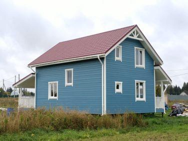 Каркасный дом в пос. Черемыкино, вид сзади