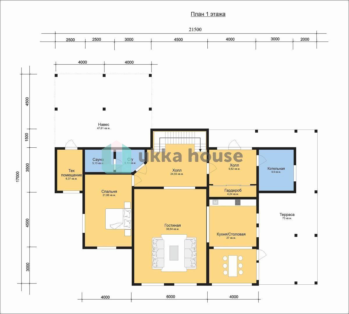 Проект «Девиант. План 1 этажа.»