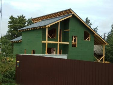 Двухэтажный дом по проекту «Олсуфьевъ», комплектация «Закрытый наружный контур»