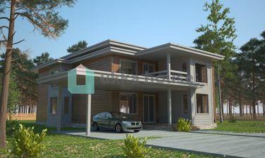 проект загородного дома в стиле модерн