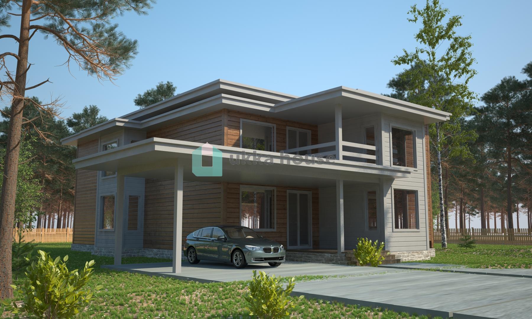 Проект «Дом с плоской крышей - проектФон Ливен»