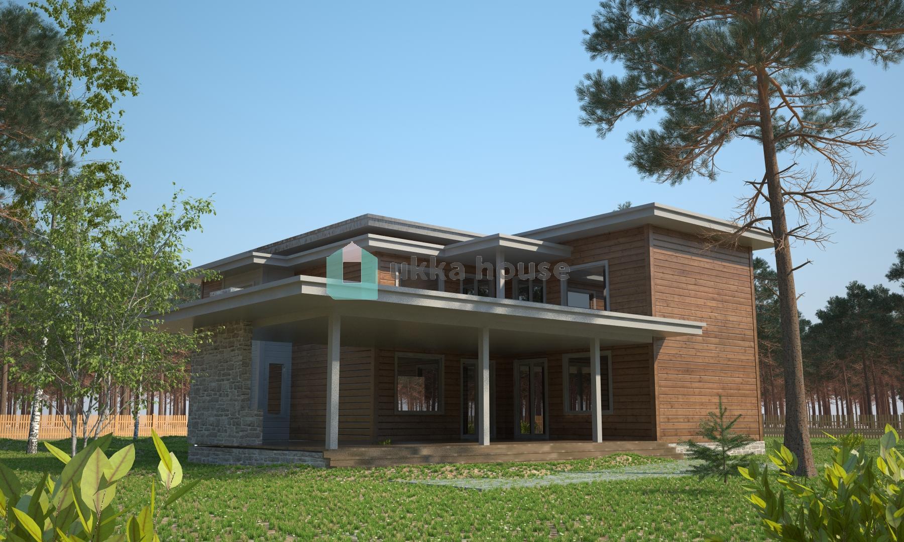 Проект «проект загородного дома в стиле модерн Фон Ливен»