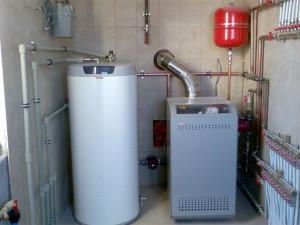 Отопление каркасного дома - Газовый котёл для отопления