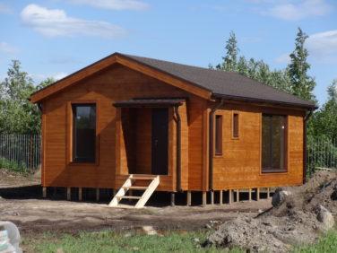 Каркасный дом-баня