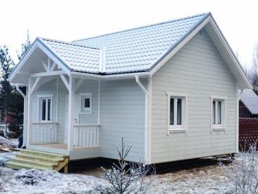 Каркасный дом Барон 52 м2, пос. Каннельярви, Ленинградская обл.