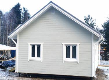 Каркасный дом в пос. Каннельярви, проект Барон, фасад дома