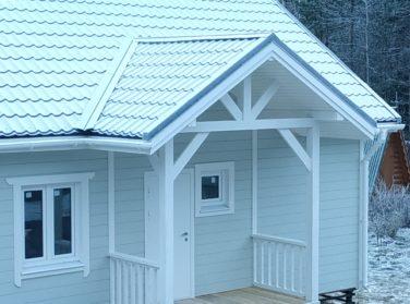 Каркасный дом в пос. Каннельярви, проект Барон, крыльцо