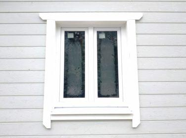 Пластиковое окно в каркасном доме, пос. Каннельярви