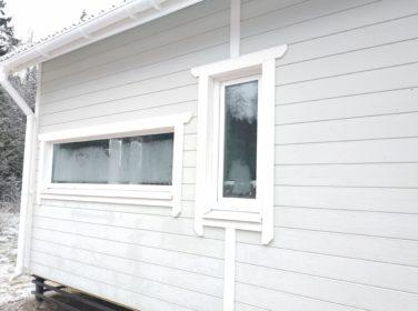 Каркасный дом по проекту Барон в пос. Каннельярви, окна подсобных помещений