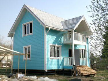 Каркасный дом 6х9 м, проект Азимут, Красное Село, СПб