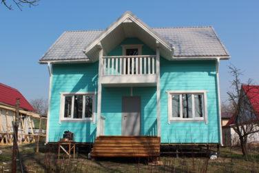 Каркасный дом 6х9 м, проект Азимут, Красное Село, СПб, вид с фасада