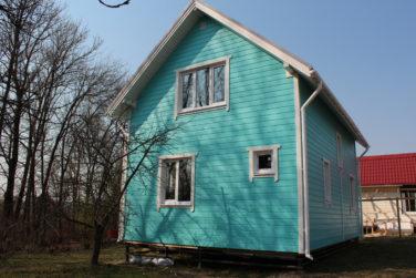 Каркасный дом 6х9 м, проект Азимут, Красное Село, СПб, вид сбоку