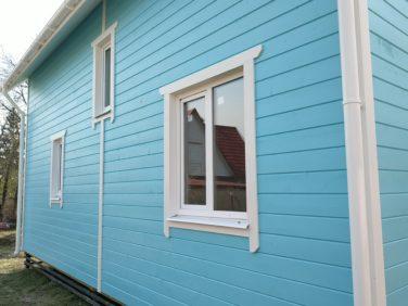 Отделка каркасного дома в Красном Селе, СПб - крашеная имитация бруса