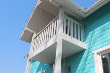 Каркасный дом 6х9 м, проект Азимут, Красное Село, СПб, крыша балкона