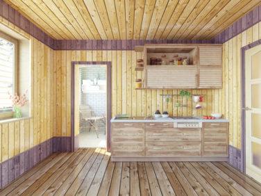 Кухня в загородном коттедже