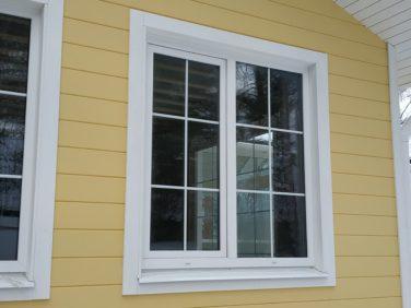 Каркасный дом в пос. Лосево - окна Ivaper со шпросами