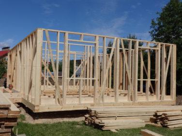 Каркасный дом, первый этап строительства
