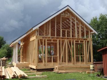 Каркасный дом, второй этап строительства