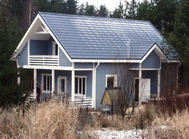 Каркасный дом по проекту Ридигер в пос. Ольшаники