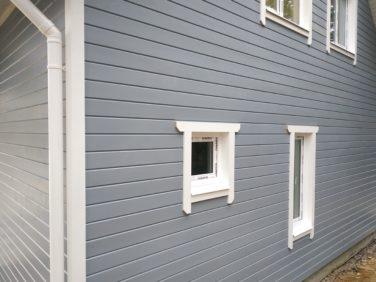 Каркасный дом по проекту Ридигер в пос. Ольшаники, окна подсобных помещений