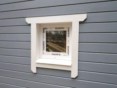 Каркасный дом по проекту Ридигер в пос. Ольшаники, пластиковое окно в санузле
